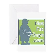Cute Hotfatguys Greeting Card
