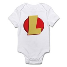 "SuperHero Letter ""L"" Infant Bodysuit"