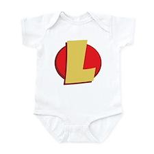 "SuperHero Letter ""L"" Onesie"