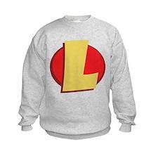 "SuperHero Letter ""L"" Sweatshirt"