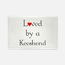 Loved by a Keeshond Rectangle Magnet
