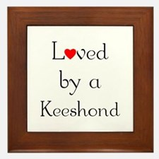 Loved by a Keeshond Framed Tile