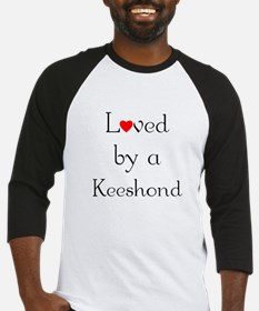 Loved by a Keeshond Baseball Jersey