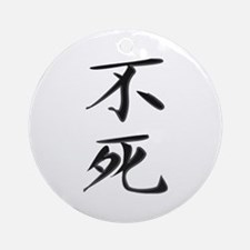Immortality - Kanji Symbol Ornament (Round)