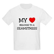My Heart Belongs To A SEAMSTRESS T-Shirt