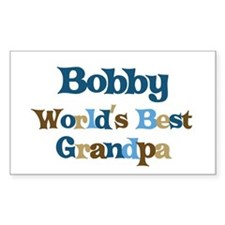 Bobby - Best Grandpa Rectangle Decal