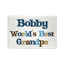 Bobby - Best Grandpa Rectangle Magnet