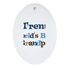 Trent - Best Grandpa Oval Ornament