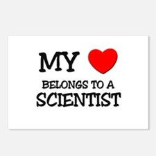 My Heart Belongs To A SCIENTIST Postcards (Package