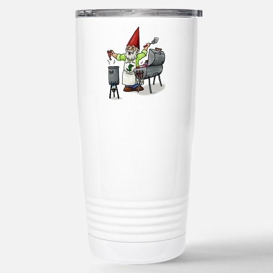 BBQ Gnome Stainless Steel Travel Mug