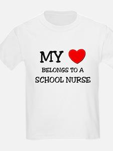 My Heart Belongs To A SCHOOL NURSE T-Shirt
