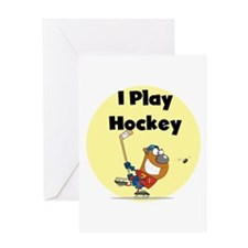 I Play Hockey Greeting Card