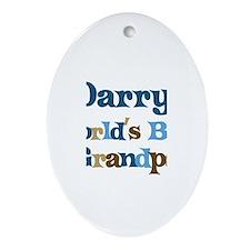 Darryl - Best Grandpa Oval Ornament