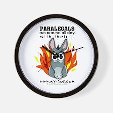 Paralegals Wall Clock