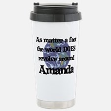 World Revolves Around Amanda Stainless Steel Trave