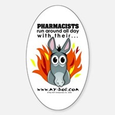 Pharmacists Oval Decal