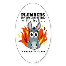 Plumbers Oval Decal