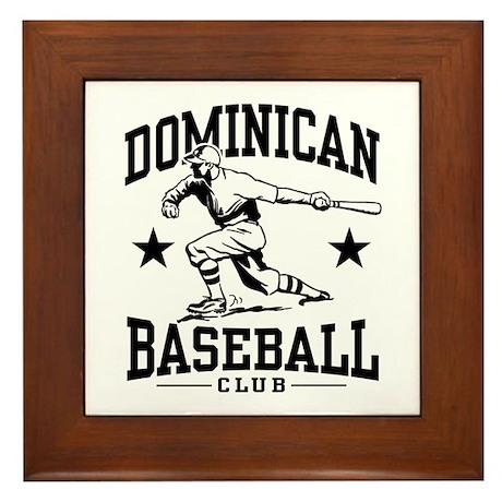 Dominican Baseball Framed Tile