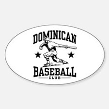 Dominican Baseball Oval Decal