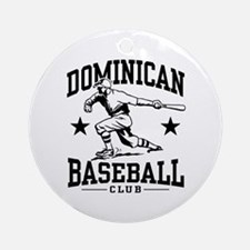 Dominican Baseball Ornament (Round)