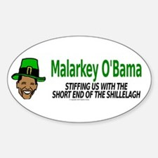Malarkey O'Bama Oval Decal