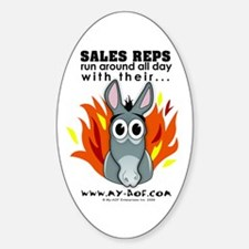 Sales Reps Oval Decal