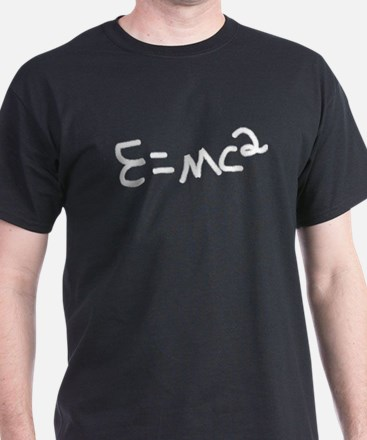 E=MC2  Black T-Shirt