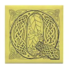 Celtic Letter Q Tile Coaster