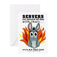 Servers Greeting Card