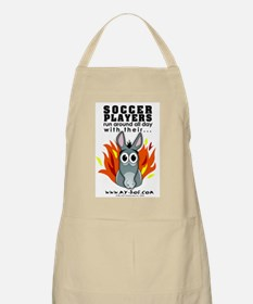 Soccer Players BBQ Apron