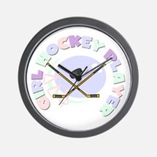Girl Hockey Player Wall Clock