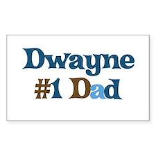 Dwayne - #1 Dad Rectangle Decal