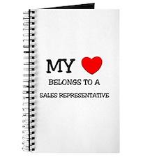 My Heart Belongs To A SALES REPRESENTATIVE Journal