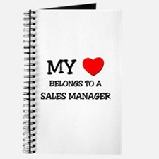 My Heart Belongs To A SALES MANAGER Journal