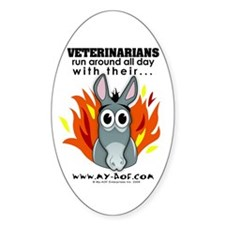 Veterinarians Oval Decal