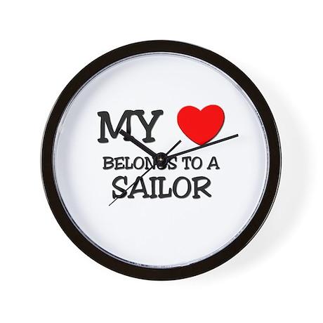 My Heart Belongs To A SAILOR Wall Clock