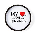 My Heart Belongs To A SAIL MAKER Wall Clock