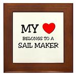My Heart Belongs To A SAIL MAKER Framed Tile