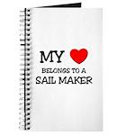 My Heart Belongs To A SAIL MAKER Journal