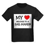 My Heart Belongs To A SAIL MAKER Kids Dark T-Shirt
