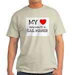 My Heart Belongs To A SAIL MAKER Light T-Shirt