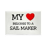 My Heart Belongs To A SAIL MAKER Rectangle Magnet