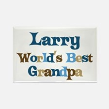 Larry - Best Grandpa Rectangle Magnet
