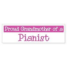 Grandmother of a Pianist Bumper Bumper Sticker