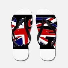 British Lion Silhouette On Union Jack F Flip Flops