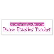 Grandmother of a Peace Studie Bumper Bumper Sticker