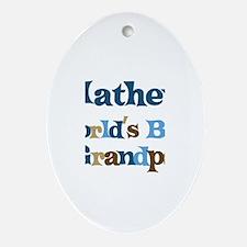 Mathew - Best Grandpa Oval Ornament