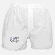 Mathew - Best Grandpa Boxer Shorts