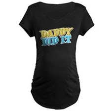 Funky Blue & Yellow Daddy Did It T-Shirt
