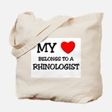 My Heart Belongs To A RHINOLOGIST Tote Bag